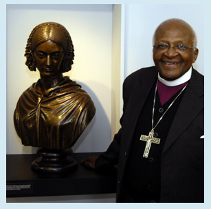 Flo with Desmond Tutu